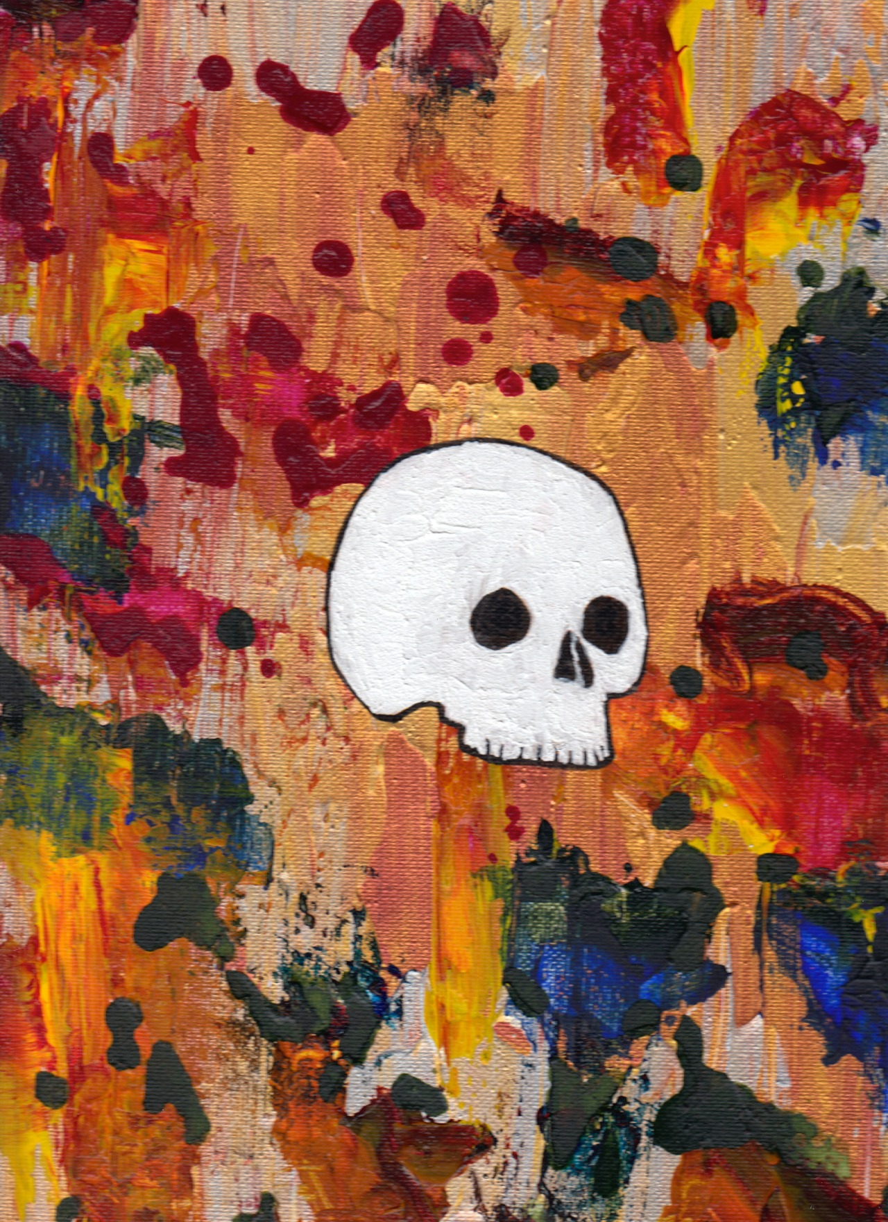 "Bones #2 - 11""x14"" - Acrylic on Canvas"