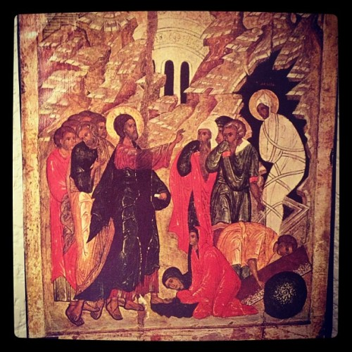 """Christ Raising Lazarus From the Tomb."" He brings the dead to life and restores what the enemy destroys.  (at Captain's Quarters)"