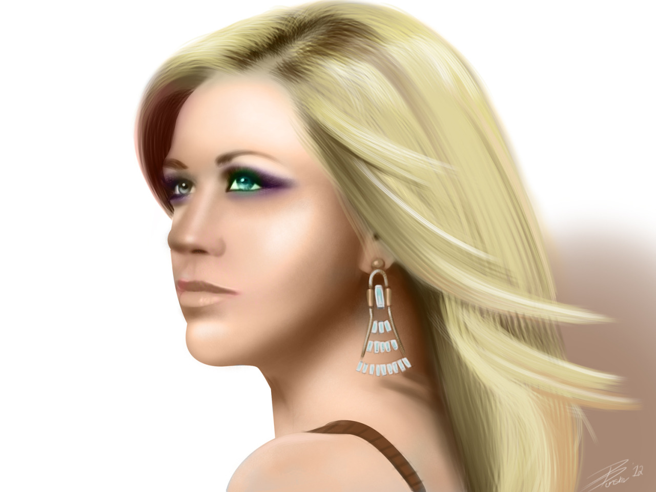 Kelly Clarkson painting - 10 hours