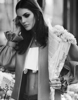 lovelostfashionfound:  Hilary Rhoda - DuJour Magazine SS 2013