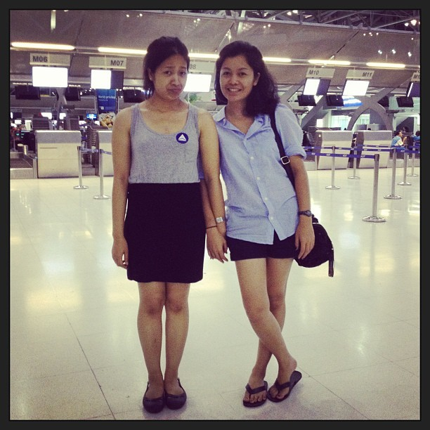 How many year we gonna meet again? Miss you. (at Suvarnabhumi Airport (BKK) ท่าอากาศยานสุวรรณภูมิ)