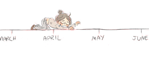 crawling my way to the end of this semester   Me right now