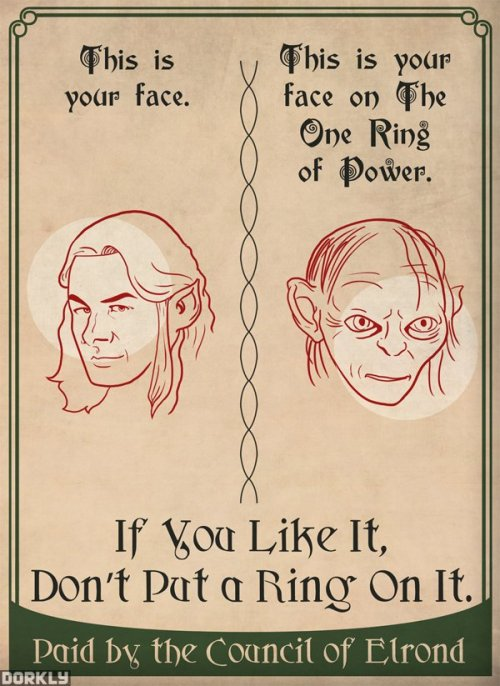 jennthemusical:  8 Middle Earth PSAs