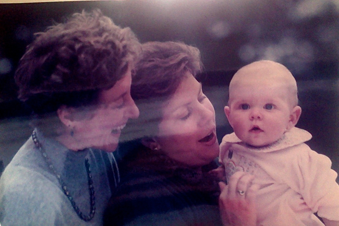 lets-go-lesbos:  Adorable lesbian photo? This is my moms with me as a baby. They celebrate their 20th wedding anniversary in 2 days. Note: Wait oh my god this is potentially the cutest picture of all time.