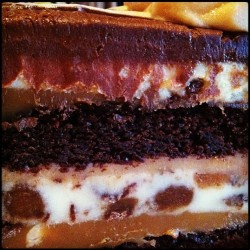 When life gives you layers.. gobble up! #quote #cheesecake #chocolate #cake #fudge #dessert #food #foodie #layers #caramel #yum #yummy #decadent #delicious #breakfast #help (at The Cheesecake Factory)