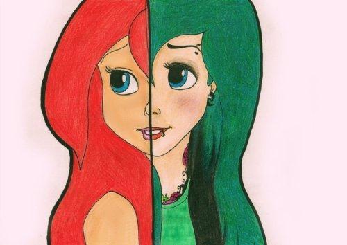drawing girl on Tumblr