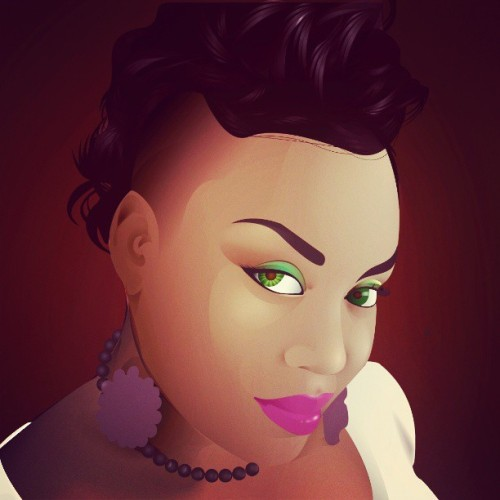 @creme_Pearlie the vector of the love of my life. Xoxoxo #love #sexy #vectors #illustrator #adobe #colors #emerald #queen #art #creative #graphics #designer