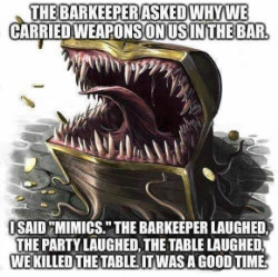 rawr teeth Dungeons and Dragons d&d Mimics