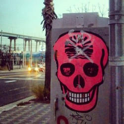 #calavera #skull #art #chulavista X #SD #graffiti #coronadobridge (at Barrio Logan)