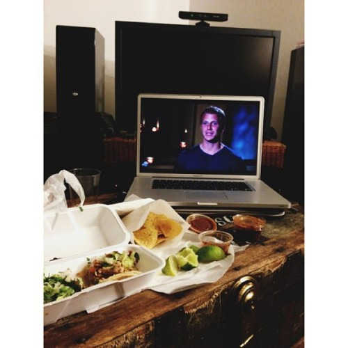 Husband is working late…hello take out tacos & the Bachelor.