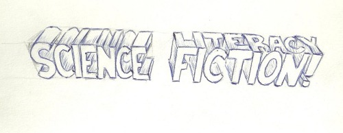 A little sketch I made with the materials at hand. When you read Science Fiction, you get a little something extra!