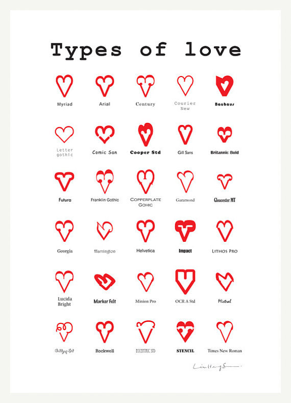 typografree:  Types of LOVE