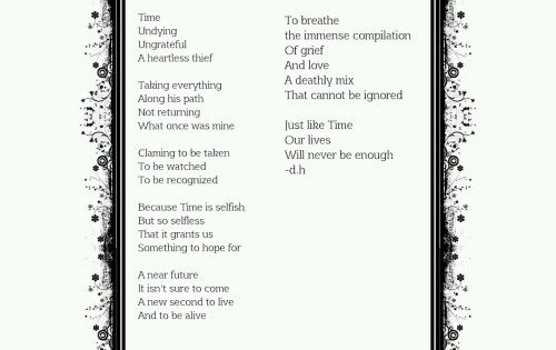 A poem about Time