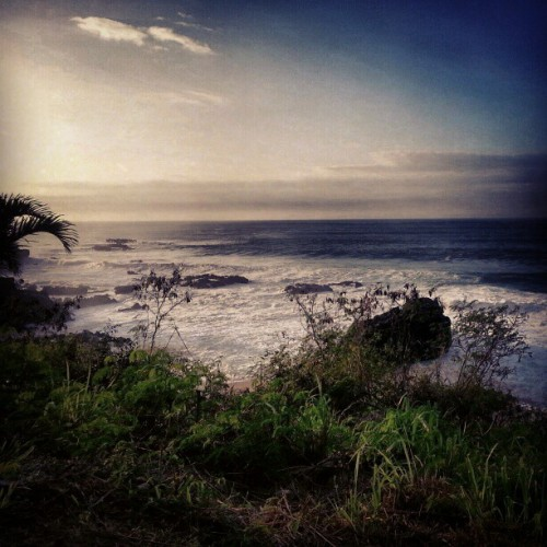 Nearing sunset, weeks ago.  (at Waimea Bay Beach Park)
