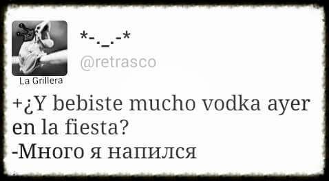 Vodka en la fiesta