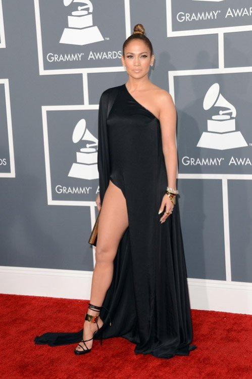 Jennifer Lopez at the 2013 Grammy Awards.
