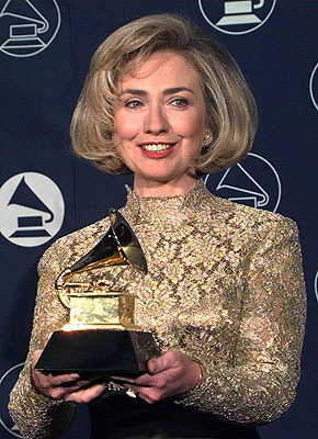 "apsies:  secretaryofawesome:  Hillary Clinton won a Grammy in 1997 for Best Spoken Word for the audio recording of her book ""It Takes a Village.""  Original photograph source unknown.   The only Grammy related picture I need to post tonight."