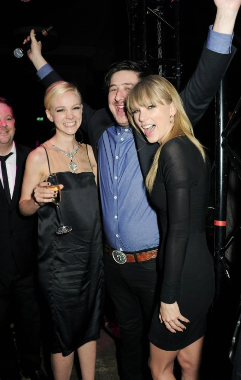 Carey Mulligan, Marcus Mumford and Taylor Swift || Brit Awards after party at the Soho House Pop-Up in London on February 20, 2013