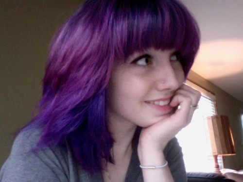i've been calling this my twilight sparkle hair