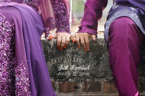 Teaser; Just Married Azura & Izhar 6 April 2013 Visit our FB page : NyaiePhotography