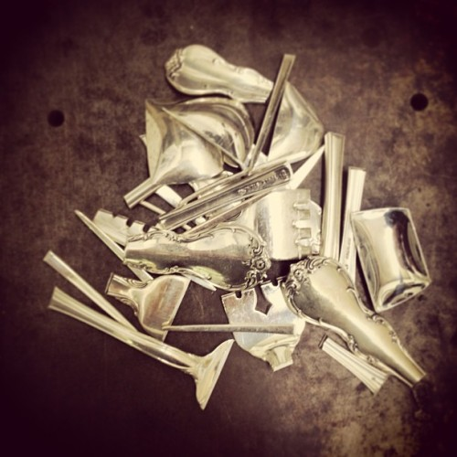 Deconstructing… #recycled #spoonsandforks