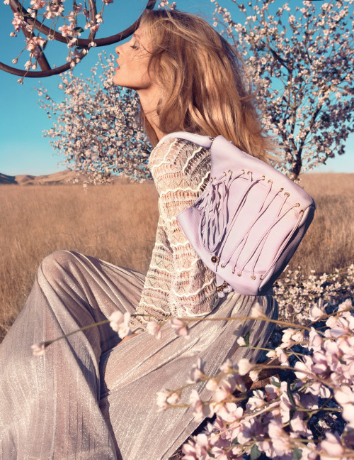 The beautiful Anna Selezneva stars in Blumarine's spring/summer 2013 campaign shot in Simi Valley, LA. What a wonderful landscape, complemented by lashings of lavender!