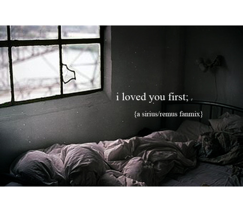 lupinses:   I loved you first; {a sirius/remus fanmix} listen | samson; regina spector | such great heights; iron and wine | run; daughter | no rest; dry the river | werewolf; fiona apple | putting the dog to sleep; the antlers | demons; imagine dragons | my moon my man; feist | real love; regina spektor | ho hey; the lumineers |