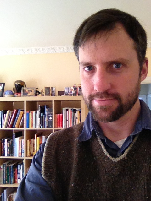 thepinakes:  I may not be at #alamw13, but I support #sweatervestsunday from a thousand miles down the coast. The defense of intellectual freedom crosses state lines!  Daniel is repping the vest!