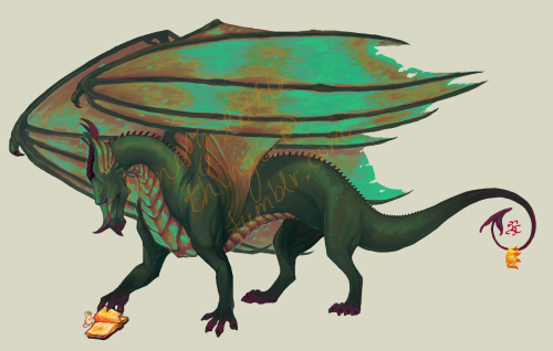 lonelylittlethings:  Wyrm ; illustration ~ yay I'm done with this! my pet Wyrm on Subeta I'm quite satisfied with the different painting process I tried out this time; basic sketch not quite as detailed and not relying on lines = more painty… yay  Beautifulll 8D