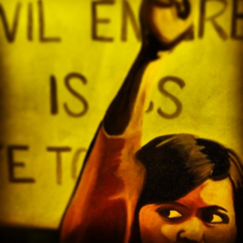 Evil Empire. Original oil #painting by @jamelah. #protest #art