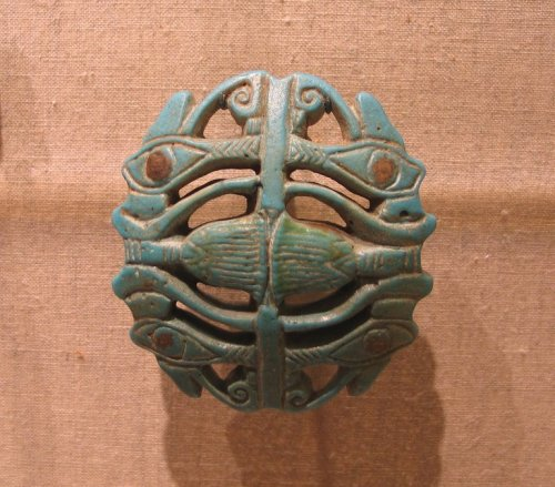 centuriespast:  Amulet Medium: Faience Place Collected: Egypt Dates: ca. 945-718 B.C.E. or later Period: Third Intermediate Period Brooklyn Museum