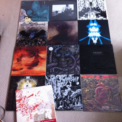 And a load of heavy shit - http://www.feastoftentacles.com/distro.html #taint #rawradarwar #bomg #dot #rue #oak #worship #tarantulahawk #guapo #doom #sludge