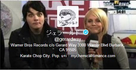 frrnkk:  franksbum:  franksbum:  Gerard's new header  THIS MEANS HE'S BEEN WATCHING OLD MCR INTERVIEWS WHOLEY SHIT  this is why gerard is my favourite person
