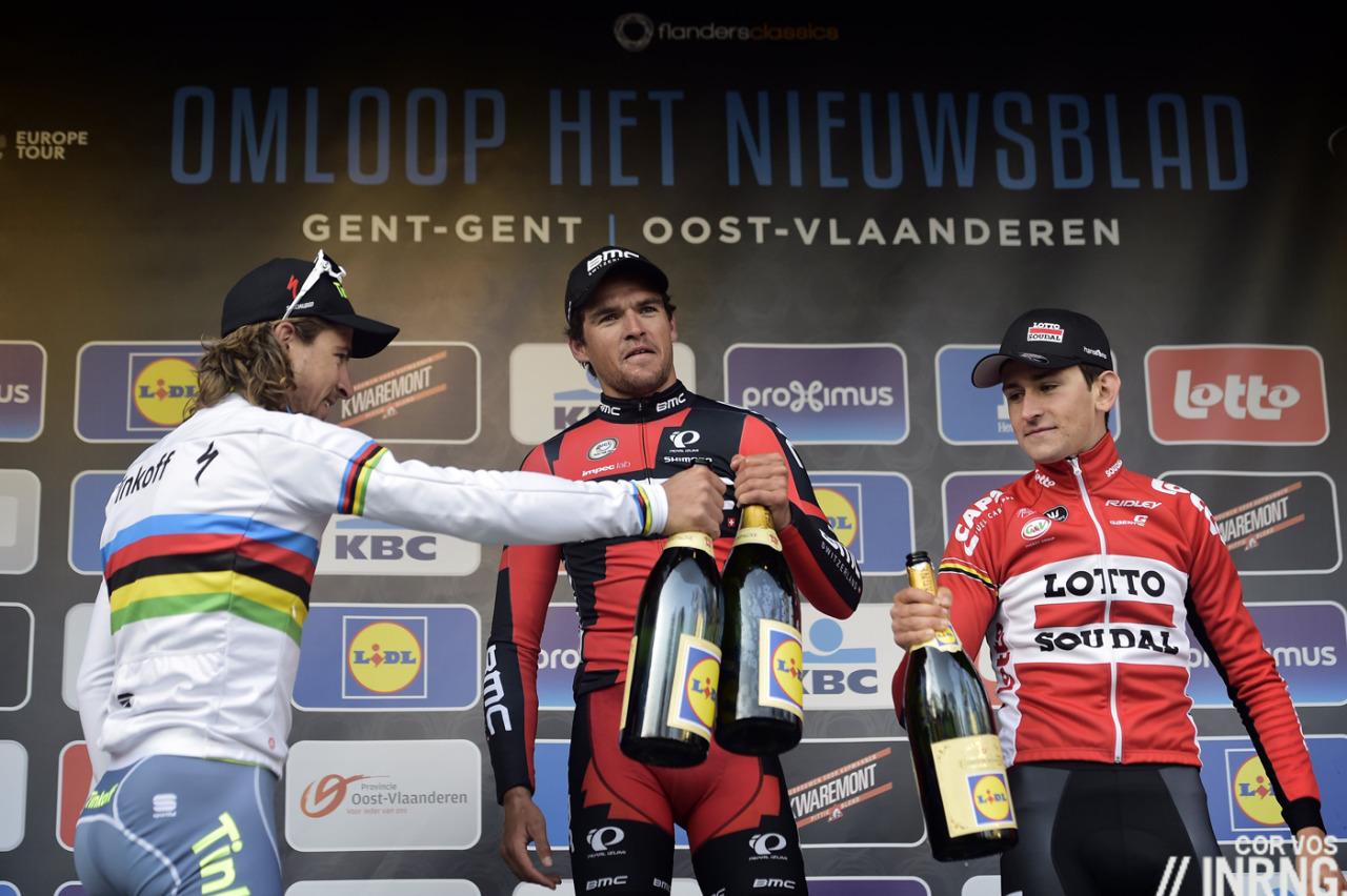 Omloop Het Nieuwsblad 2016 podium