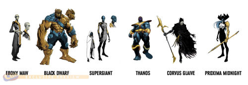charactermodel:  dustellar:  The Black Order and Thanos  The Black Order and Thanos[ Infinity ]   The Dark Side…