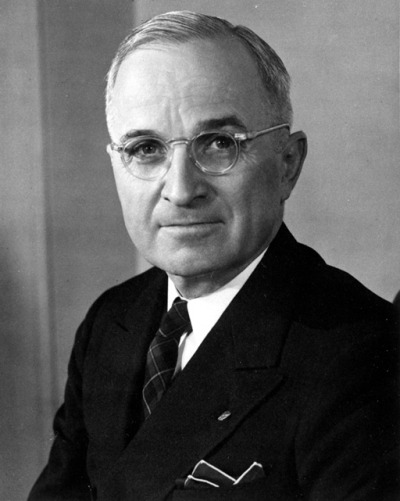 May 8th 1884: Truman born On this day in 1884, the future 33rd President of the United States Harry S. Truman was born. Truman served as Vice-President under Franklin D. Roosevelt and became President upon Roosevelt's death in 1945. As President, Truman oversaw the end of World War Two and made the decision to use nuclear weapons against Japan. His other acts as President include passing the Marshall Plan to rebuild Europe, issuing the Truman Doctrine to contain communism and overseeing the Korean War. Truman left the presidency in 1953 and died in 1972 aged 88.