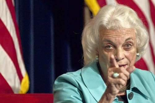 Sandra Day O'Connor wants YOU to listen to the show tomorrow. (because she's on it.)