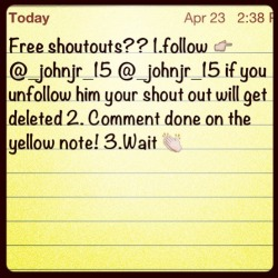 @_johnjr_15 hurry!!!! hurry!!! follow me!!!!