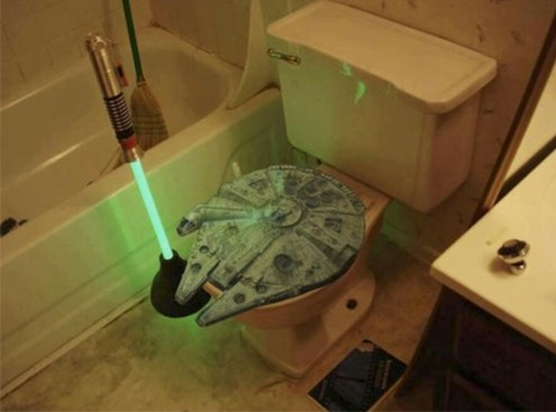 Star Wars toilet FTW!