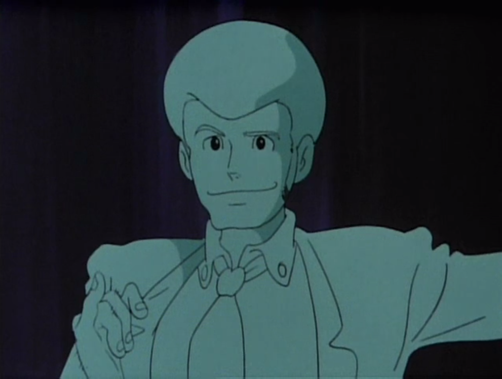 ho mah god  Lupin looks so weird with poofy hair because I always imagine him with a closecut sorta buzzcut almost thing.