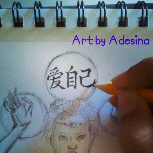 Love yourself. Xoxo #sketchbook #zen #Chinese #buddha #drawing #art #pencil