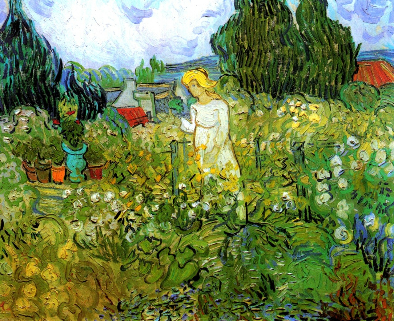 fleurdulys:  Marguerite Gachet in the Garden - Vincent van Gogh 1890