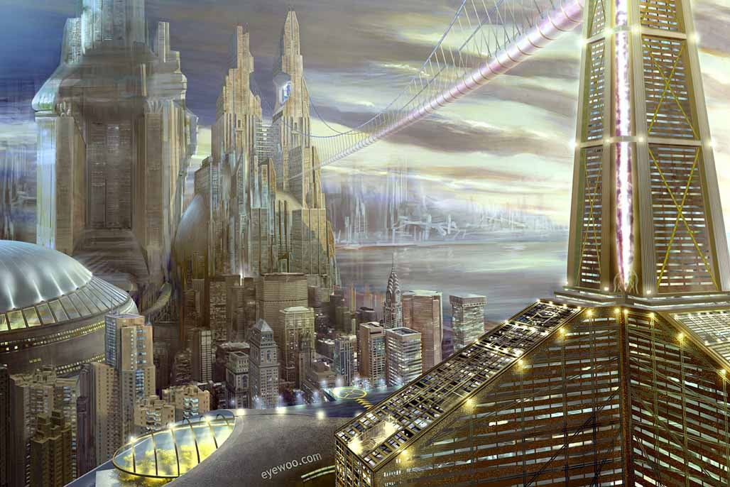 New York City in the Future by Philip Hone Williams via christopher1001