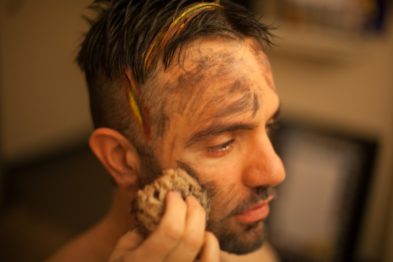 A closer look at the fine details of Ramin Karimloo's scarred Valjean. Photo by maxgordonphotography.