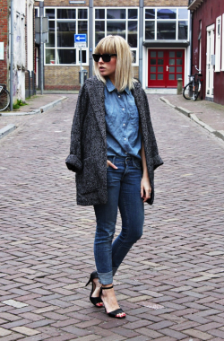 the-streetstyle:  OUTFIT | DENIM & JEANSvia fashionhoax