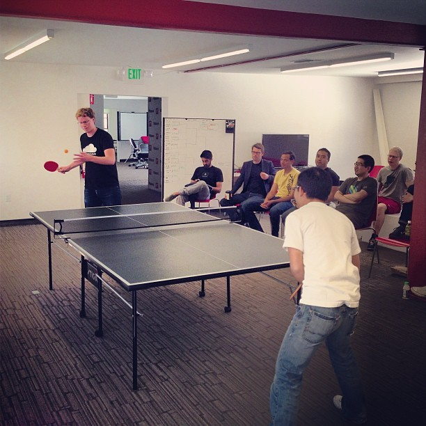 Intense match. (at Flipboard HQ)