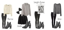 littlemix—style:  Request Little Mix Inspired Outfits with Topshop Physics Boots All the links here   - Rafa