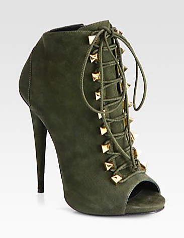 Giuseppe Zanotti suede lace up ankle boot. Click here to buy.