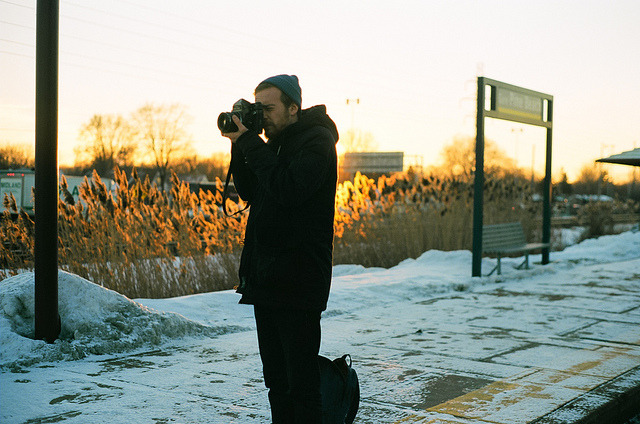 Peter. on Flickr. Photographing the photographer. 35mm Kodak Ektar 100 Minolta X-500