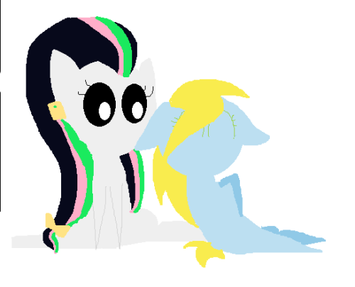 Hi, pony. I j-just wanted to draw you a p-present in your style… You are amazing… I really like your b-blog… Sorry for my shyness. And so, it's your OC(left, of course), right? ————————————————— wow i love this! super cute! yup yup one of them at least :P